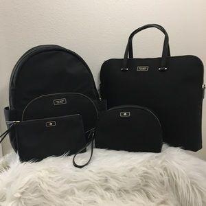 4PCS Kate Spade Backpack laptop wallet  cosmetics